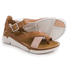 Clarks Tri Ariana Sandals - Leather (For Women) in Tan Combi - Closeouts