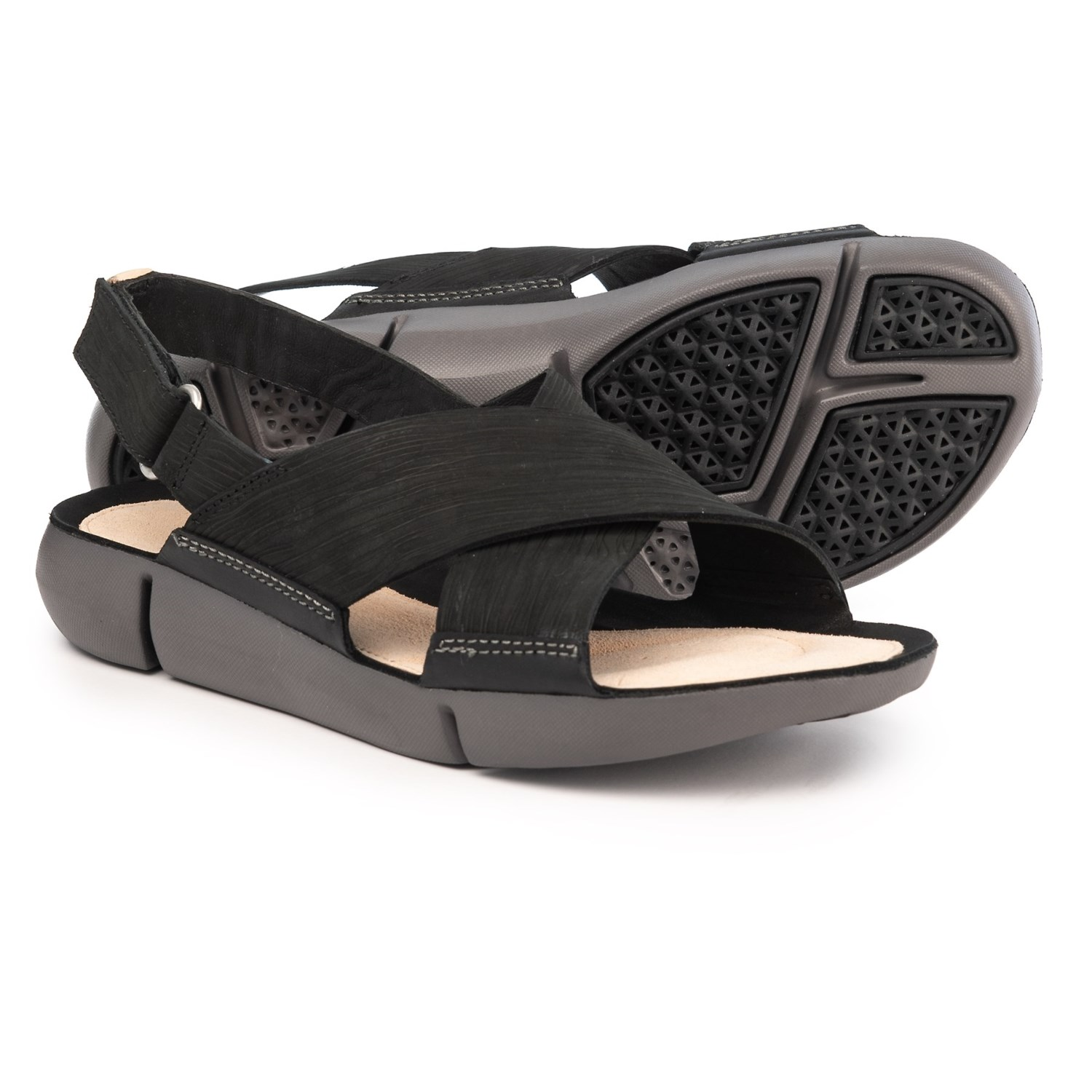 ac0ba7b61ff1 Clarks Tri Chloe Sandals - Leather (For Women) in Black
