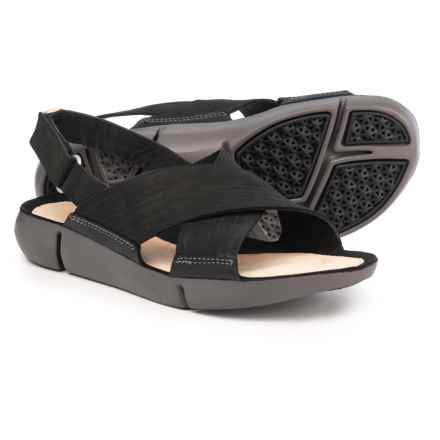 Clarks Tri Chloe Sandals - Leather (For Women) in Black