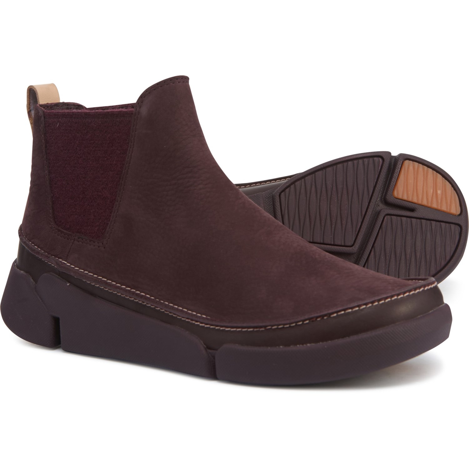 clarks womens leather chelsea boots