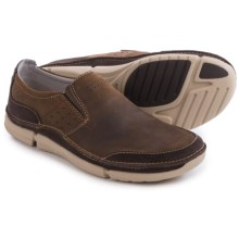 Clarks Trikeyon Step Shoes - Leather (For Men) in Brown Leather - Closeouts