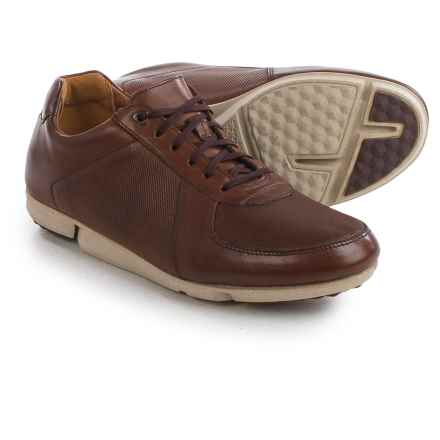 Clarks Triturn Race Sneakers - Leather (For Men) in Chestnut Leather - Closeouts