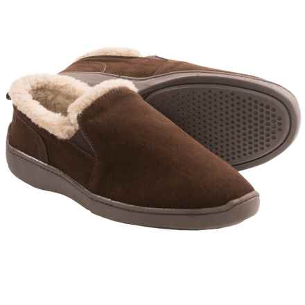 Clarks Twin Gore Suede Slippers (For Men) in Brown - Closeouts