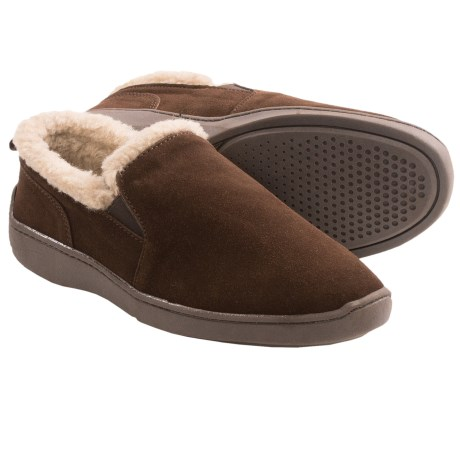 Clarks Twin Gore Suede Slippers (For Men)