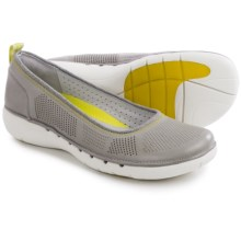 Clarks Un Elita Shoes - Leather, Slip-Ons (For Women) in Grey Leather - Closeouts