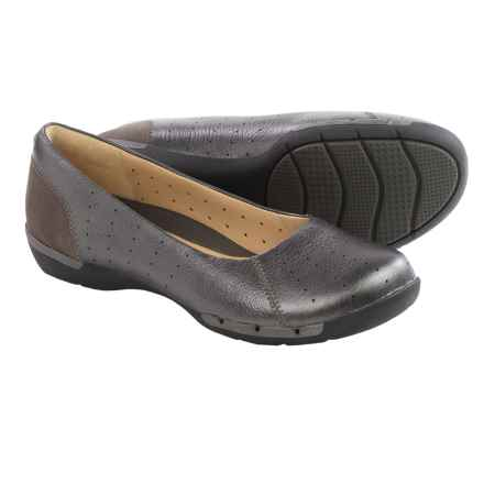 Clarks Un Hearth Shoes - Flats (For Women) in Pewter Metallic - Closeouts