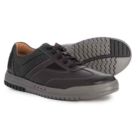 Clarks Un Rhombus Fly Sneakers - Leather (For Men) in Black - Closeouts