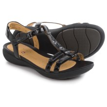 Clarks Un Vaze Sandals - Leather (For Women) in Black Patent - Closeouts