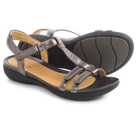 Clarks Un Vaze Sandals - Leather (For Women) in Pewter Metallic - Closeouts