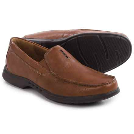 Clarks Uneasley Twin Leather Loafers (For Men) in Tan Leather - Closeouts
