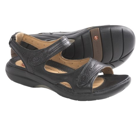 Clarks Un.Hatch Sandals - Leather (For Women) in Black Leather
