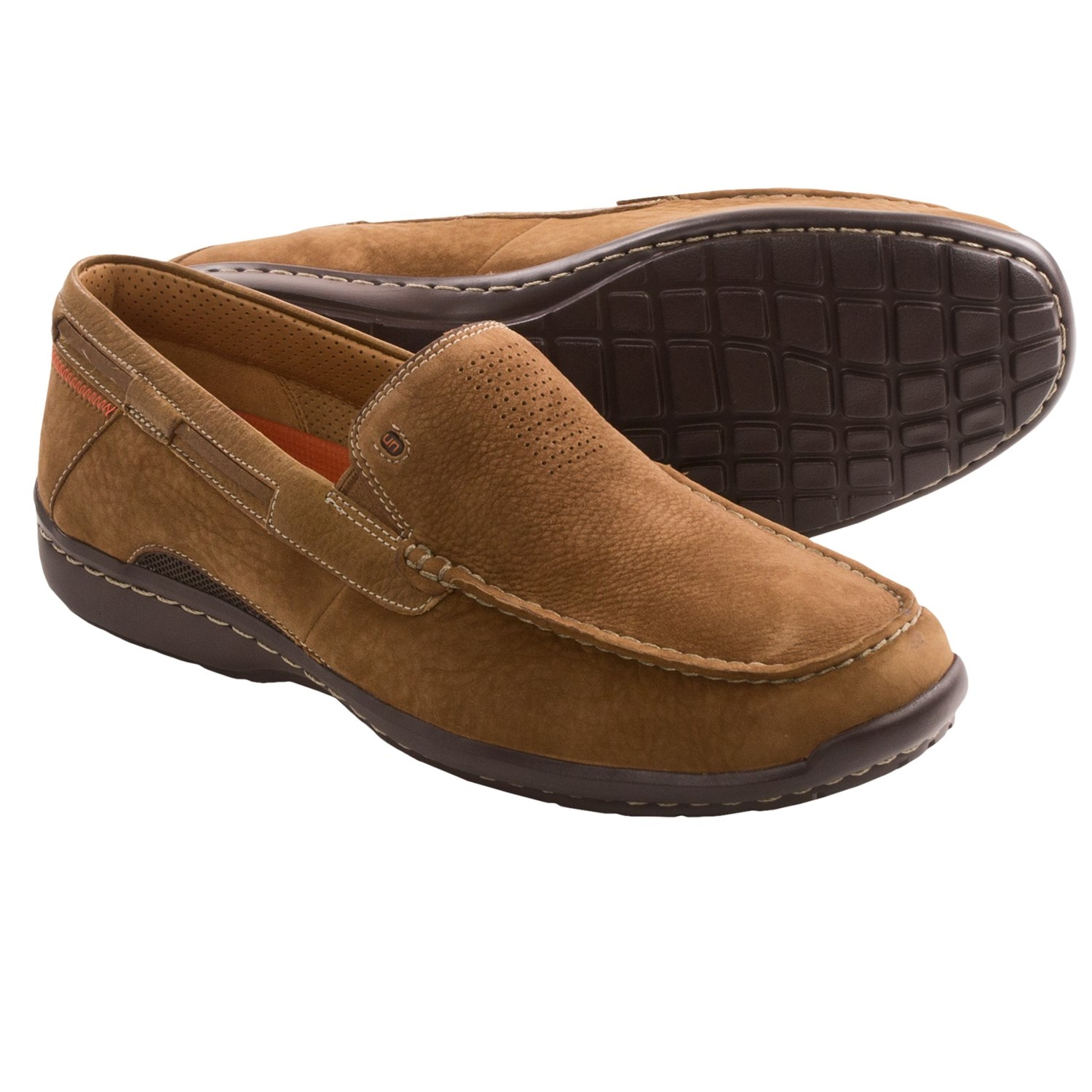 Clarks Mens Collection Slip On Shoes Tan