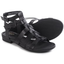 Clarks Viveca Myth Gladiator Sandals - Leather (For Women) in Black Leather - Closeouts