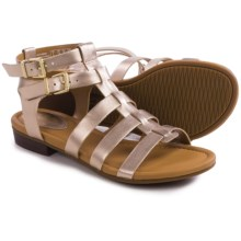 Clarks Viveca Myth Gladiator Sandals - Leather (For Women) in Gold Leather - Closeouts