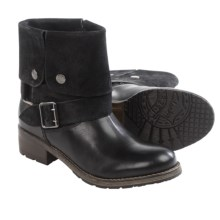 Clarks Volara Sky Cuff Boots - Leather (For Women) in Black Combo - Closeouts