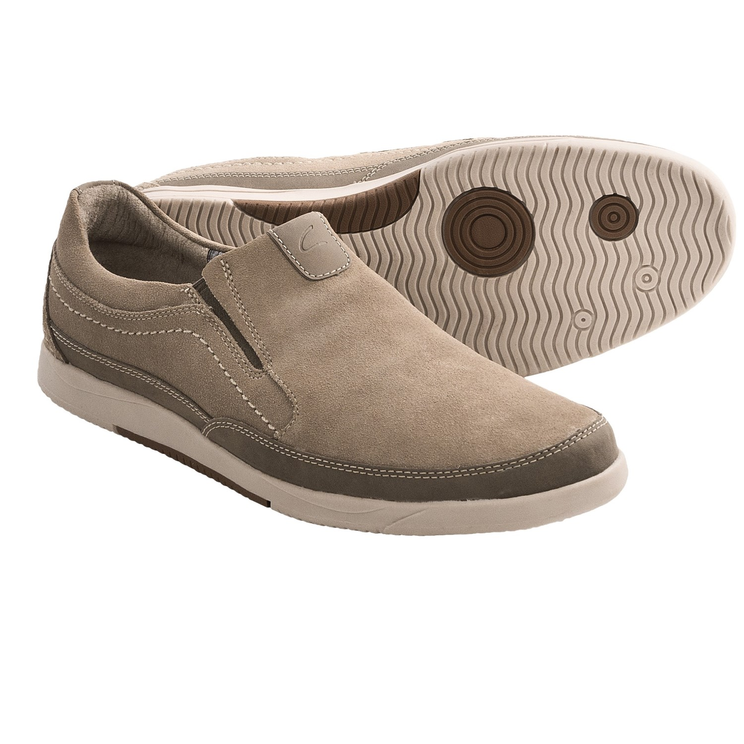 Clarks Vulcan Remus Shoes - Slip-Ons (For Men) in Taupe Leather
