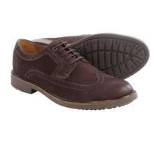 Clarks Wahlton Wingtip Oxford Shoes - Leather (For Men) in Chestnut Leather - Closeouts