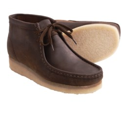 Clarks Wallabee Ankle Boots - Leather (For Men) in Beeswax