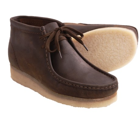 Clarks Wallabee Ankle Boots - Leather (For Men) in Brown