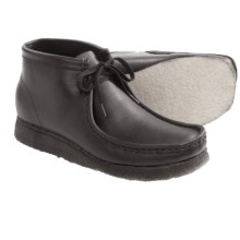 Clarks Wallabee Ankle Boots - Leather (For Men) in Black - Closeouts
