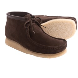 Clarks Wallabee Ankle Boots - Leather (For Men) in Black Suede