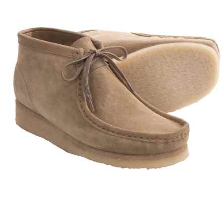 Clarks Wallabee Ankle Boots - Leather (For Men) in Sand - Closeouts