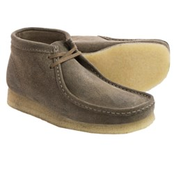 Clarks Wallabee Ankle Boots - Leather (For Men) in Taupe Distressed Suede
