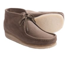 Clarks Wallabee Ankle Boots - Leather (For Men) in Taupe Suede - Closeouts