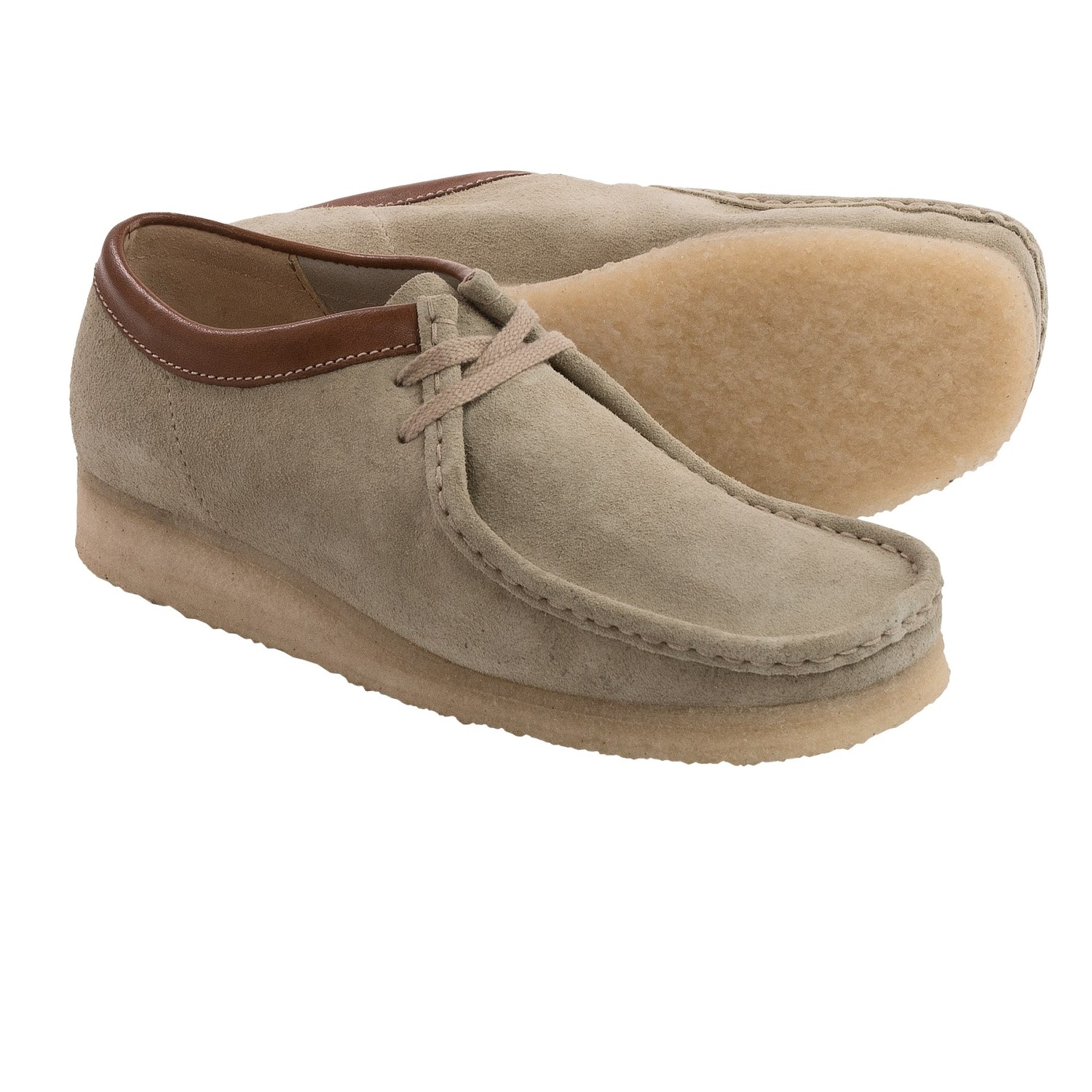 clarks wallabee shoes suede for in sand suede