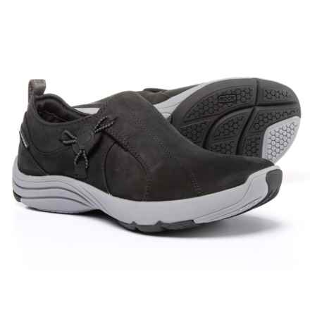 Clarks Wave River Shoes - Nubuck (For Women) in Black Nubuck - Closeouts