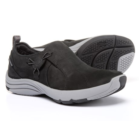 Clarks Wave River Shoes - Nubuck (For Women) in Black Nubuck