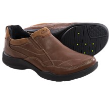 Clarks Wave.Post Shoes - Slip-Ons (For Men) in Brown Leather - Closeouts