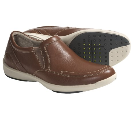 Clarks Wave.Rapid Shoes - Slip-Ons (For Men) in Tan Leather