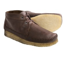 Clarks Weaver Ankle Boots - Suede (For Men) in Brown Leather - Closeouts