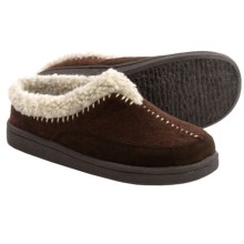 Clarks Whipstitch Clog Slippers - Fleece Lined (For Women) in Brown - Closeouts
