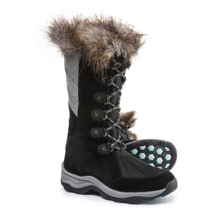 Clarks Wintry Hi Snow Boots - Waterproof, Insulated (For Women) in Black Suede - Closeouts
