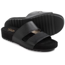 Clarks Zelby Zest Sandals - Leather (For Women) in Black Leather - Closeouts