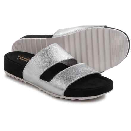 Clarks Zelby Zest Sandals - Leather (For Women) in Silver - Closeouts