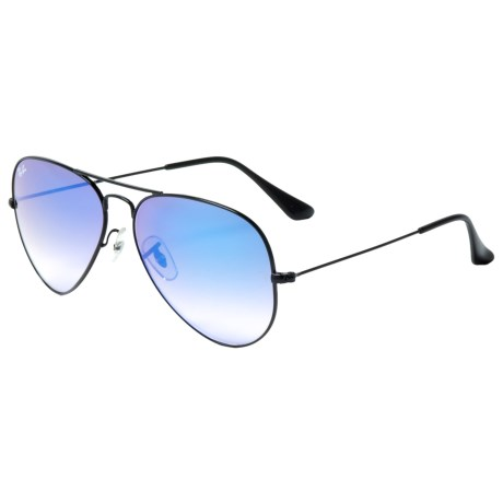 Image of Classic Aviator Gradient Flash Sunglasses