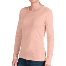 Classic Cotton T-Shirt - Long Sleeve (For Women) in Peach - 2nds