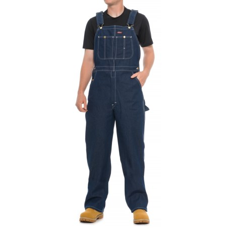 Image of Classic Denim Bib Overalls - Unlined, Relaxed Fit (For Men)