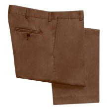 Classic Flat-Front Khaki Pants (For Men) in Dark Brown - 2nds