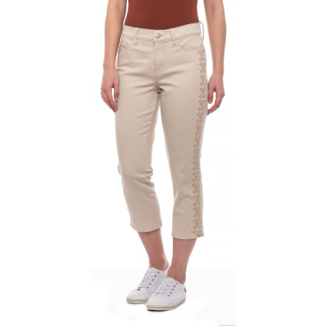 Image of Clay Alina Embroidered Capris (For Women)