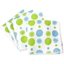 Clean House Microfiber Dishcloths - Set of 4 in Blue Circle - Closeouts