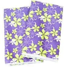 Clean House Microfiber Kitchen Towels - Set of 2 in Purple Floral - Closeouts