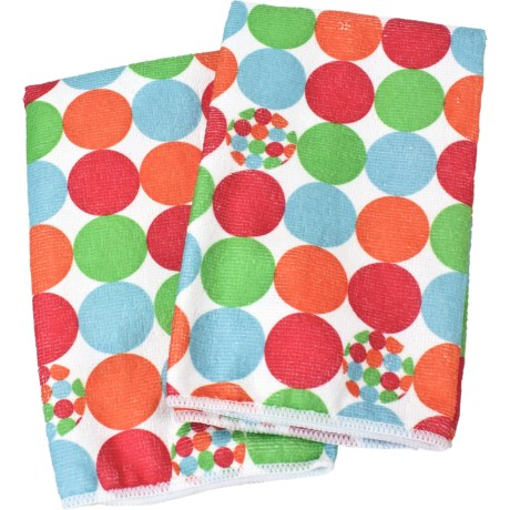 Clean House Microfiber Kitchen Towels - Set of 2 in Red Dot