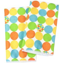 Clean House Microfiber Kitchen Towels - Set of 2 in Yellow Dot - Closeouts