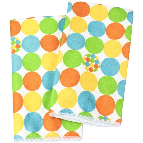 Clean House Microfiber Kitchen Towels - Set of 2 in Yellow Dot