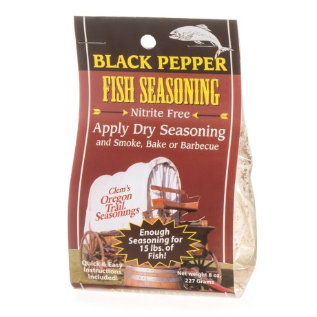 Clems Black Pepper Fish Seasoning - 8 oz. in See Photo