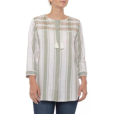 Image of Cleo Falls Tunic Shirt - Organic Cotton, 3/4 Sleeve (For Women)